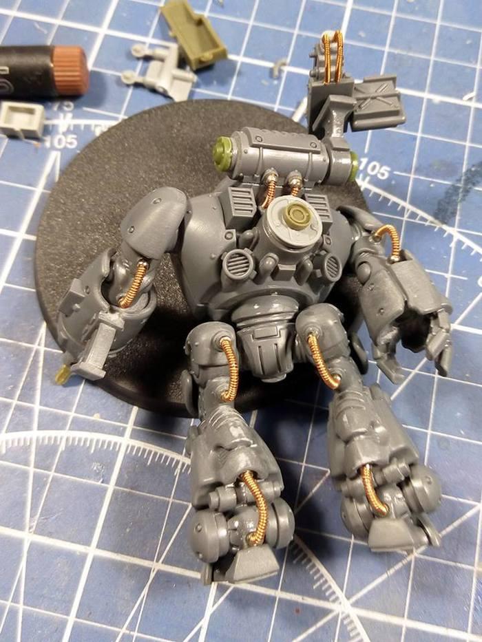Kastelan Robot (Советский дизельпанк) Миниатюра, Warhammer 40k, Моделизм, Длиннопост