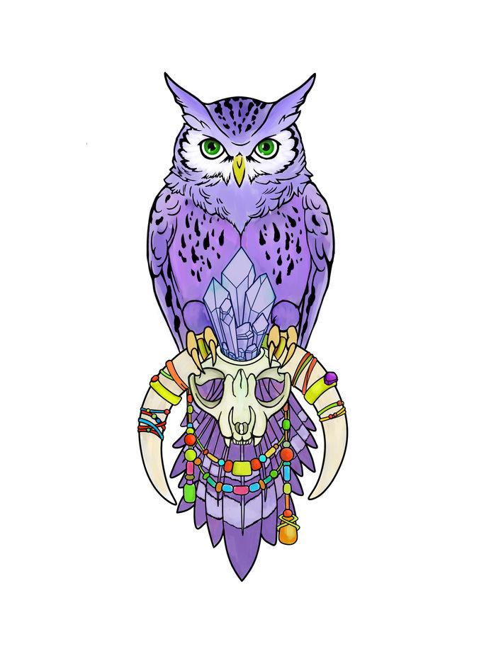 Сова Сова, Арт, Животные, Эскиз татуировки, Рисунок, Цифровой рисунок, Птицы, Анималистика