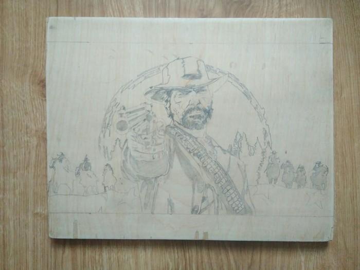 Выжигание Выжигание, Red Dead Redemption 2, Пирография, Работа с деревом, Длиннопост, Компьютерные игры, Своими руками