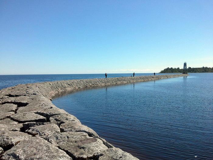 Мол Банный. (поездка одного дня) Мол банный, Финский мол, Дамба, Пятиречье, Поездка на машине, Ладожское озеро, Длиннопост, Фотография