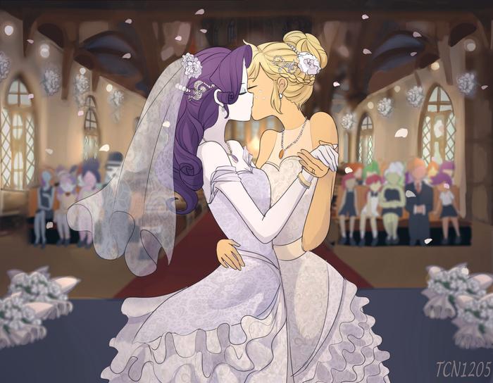 The Wedding My Little Pony, Equestria Girls, Rarity, Applejack, Looknamtcn, MLP Lesbian, Шиппинг, Свадьба