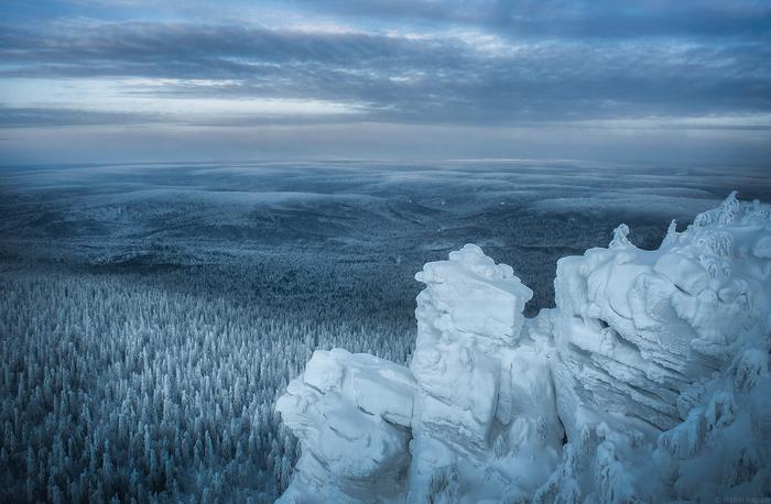 Побывав на Полюде понимаешь, какое все таки человек маленькое существо... Пермский край, Урал, Природа, Красновишерск, Снег, Зима, Мороз