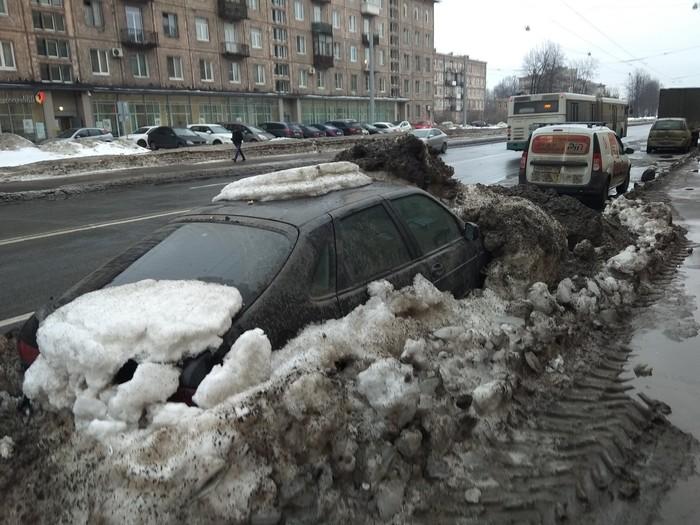 Подснежники Подснежники, Скоро весна, Уборка улиц, Длиннопост, Уборка снега, Авто, Машина