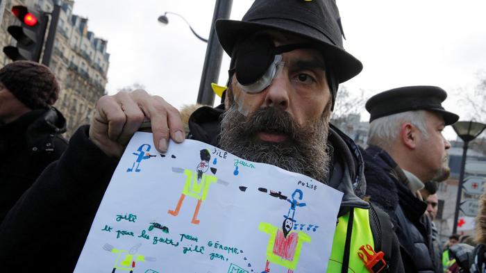 """""""Желтые жилеты"""" 13-я неделя протестов. 1700 раненных. Новости, Франция, Желтые жилеты, Протест, Раненные, Длиннопост, Политика"""