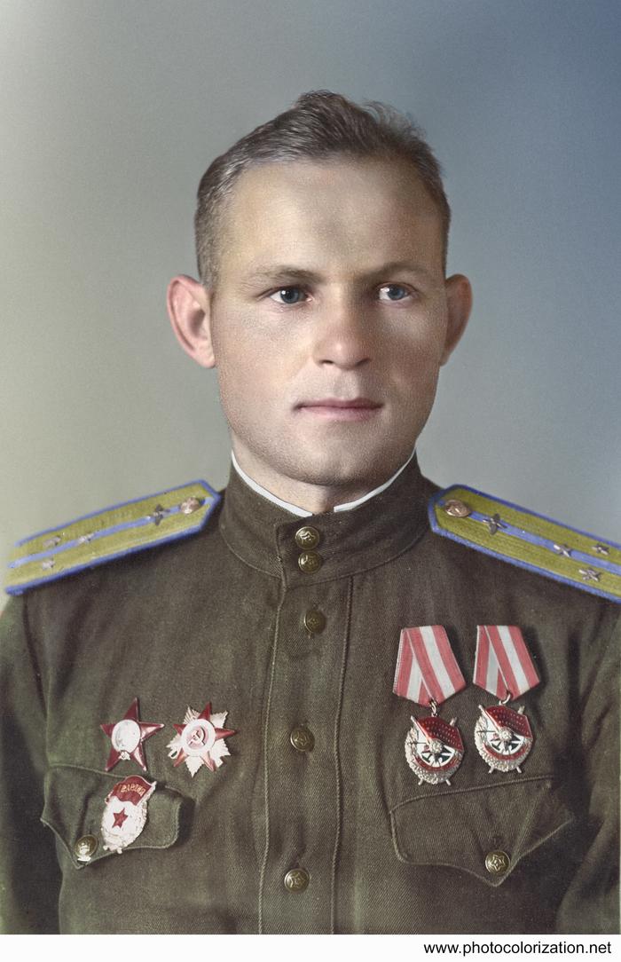 Моя колоризация Колоризация, Великая Отечественная война, Герой Советского Союза, Авиация, Длиннопост