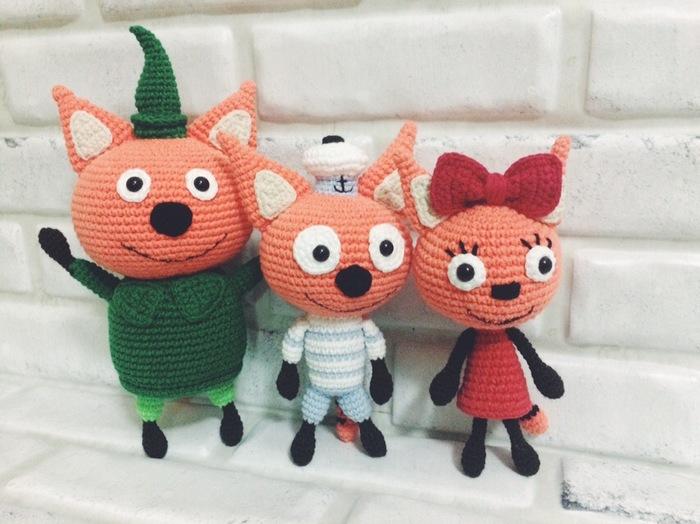 Три кота Вязание крючком, Рукоделие без процесса, Герои мультиков, Длиннопост