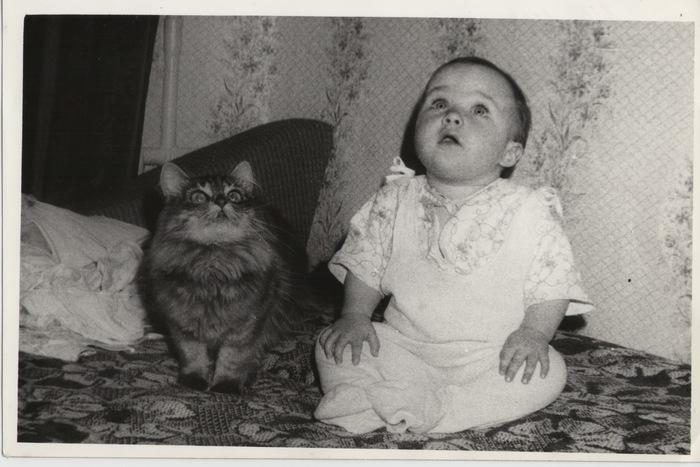Тишка Кот, Старое фото, Дети