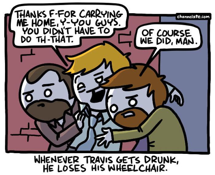 Спасибо, друзья! Комиксы, Черный юмор