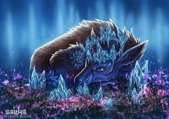 My Fantasy Bestiary Фэнтези, Цифровой рисунок, Персонажи, Животные, Длиннопост, Существа, Рисунок, Photoshop