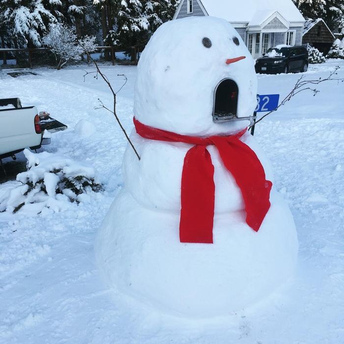 Снеговик- почтовый ящик