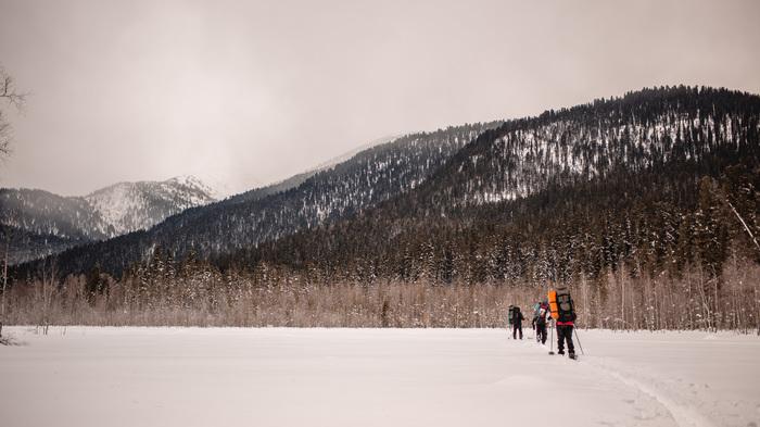 Лыжный поход на Теплый ключ, 2019 год. Теплый ключ, Тайга, Горный Алтай, Хакасия, Туризм, Лыжи, Длиннопост