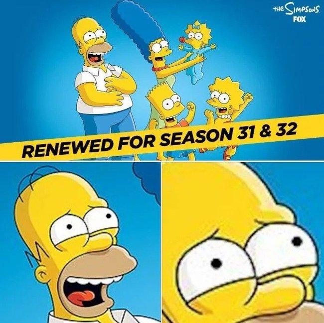 Симпсоны продлены еще на 2 сезона