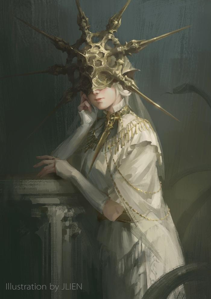 Gwyndolin Jlien-, Jlien, Dark Sun Gwyndolin, Dark Souls, Игры, Арт
