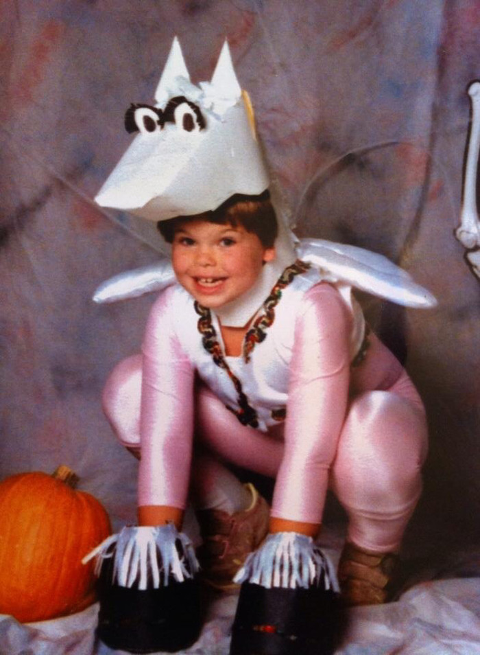 Мама смастерила мне костюм Пегаса 1989