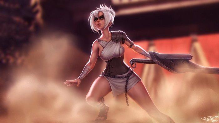 Riven Art Арт, Personalami, League of Legends, Riven, Девушки