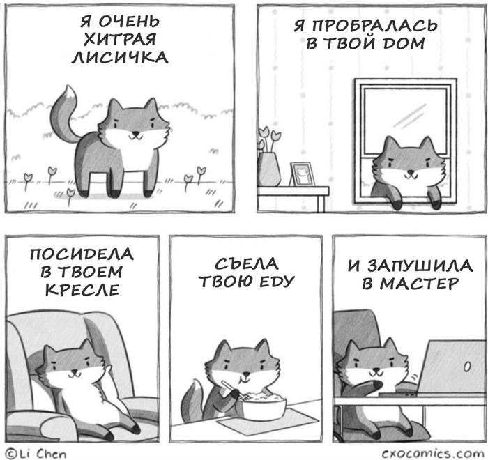 Лисички очень хитрые Юмор, Лиса, IT юмор, Программирование