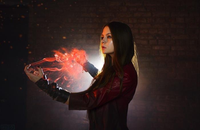 Scarlet Witch by Asami Gate Косплей, Русский косплей, Красивая девушка, Marvel, Алая Ведьма, Asami Gate, Длиннопост