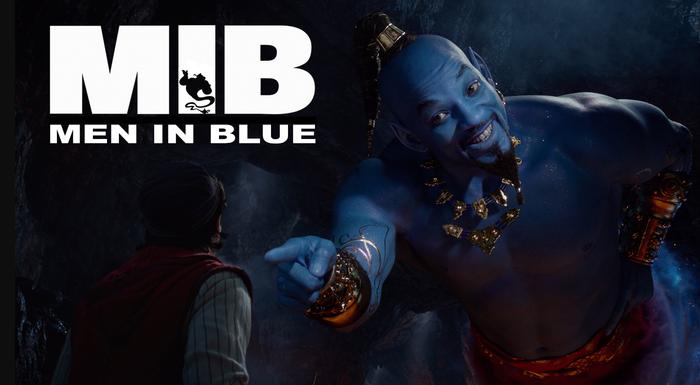 Люди в синем Аладдин, Walt Disney Company, Уилл Смит, Люди в черном, Джинн