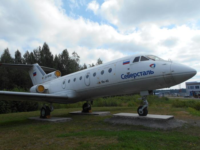 Самолёт-монументЯк-40 (RA-88180) Як-40, Самолет, Ботово, Череповец, Памятник, Ra-88180, Длиннопост