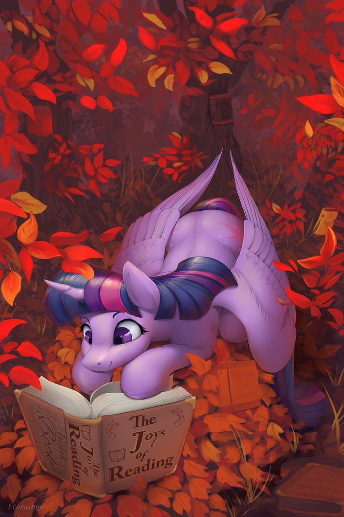 Twilight in the Fall My Little Pony, Ponyart, Twilight Sparkle, Viwrastupr