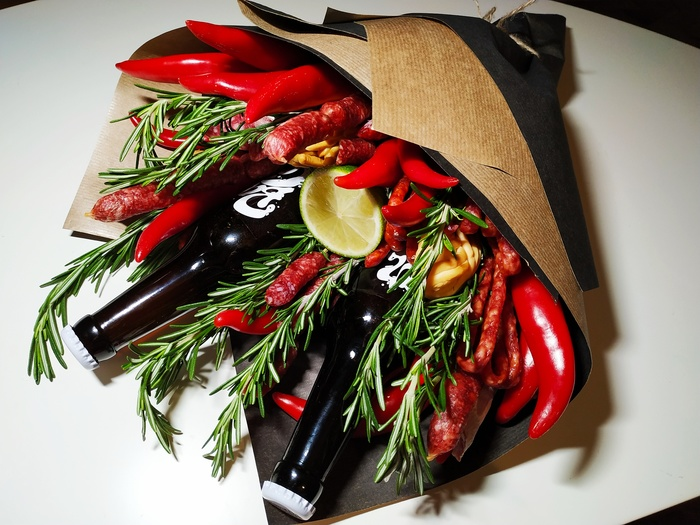 Мужицкий букет на 14 февраля Рукоделие с процессом, Крафтовое пиво, Оригинальный подарок, Длиннопост, Необычные букеты, Мужчинам