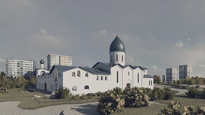 Еще один храм строится в зоне охраняемого природного ландшафта РПЦ, Храм, Самострой, Длиннопост, Москва, Негатив