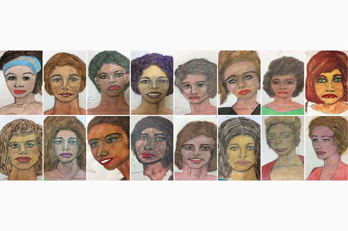 Серийный маньяк в США убил 90 женщин и нарисовал их портреты. ФБР их опубликовали Маньяк, США, Картина, Портрет, Фбр
