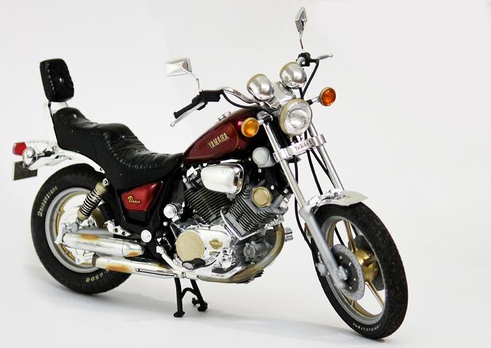 Yamaha Virago XV1000 Стендовый моделизм, Tamiya, Масштаб 12, Yamaha, Рукожоп, Длиннопост, Мотоциклы