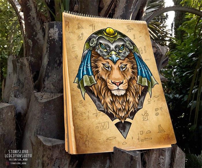 Египетская сила [2] Тату, Творчество, Картинки, Арт, Египет, Художник, Рисунок, Рисование
