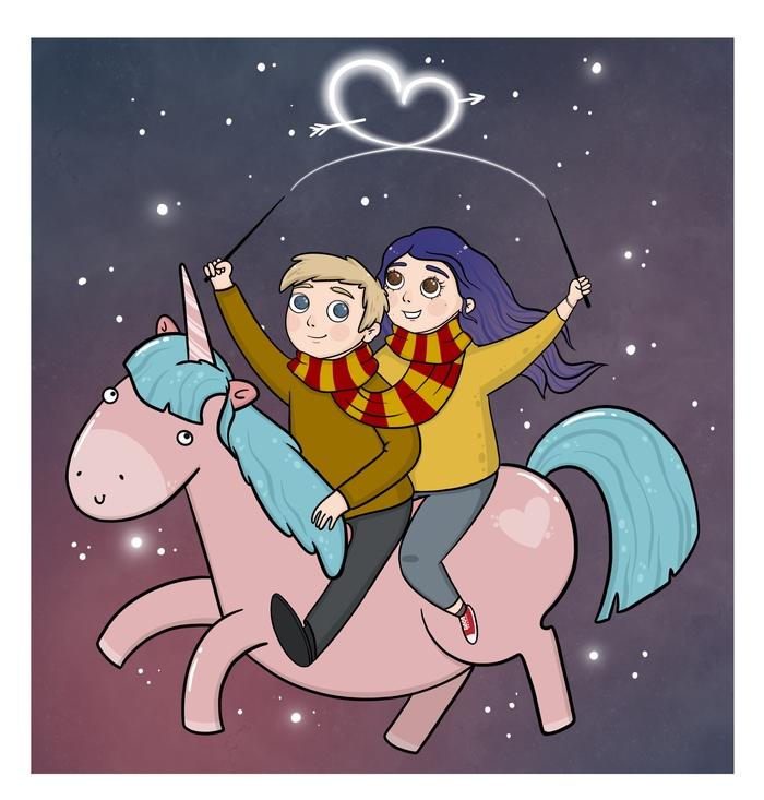 Моя валентинка :) День святого Валентина, Открытка, Иллюстрации