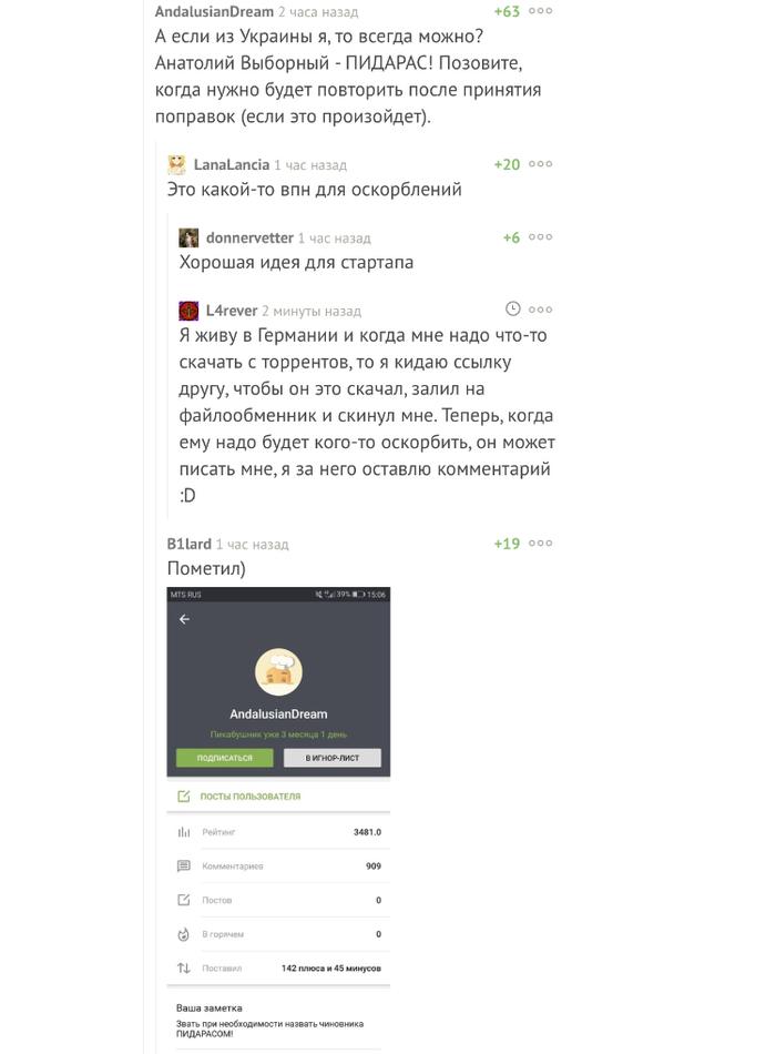 VPN для оскорблений Комментарии на Пикабу, Скриншот, Мат, VPN
