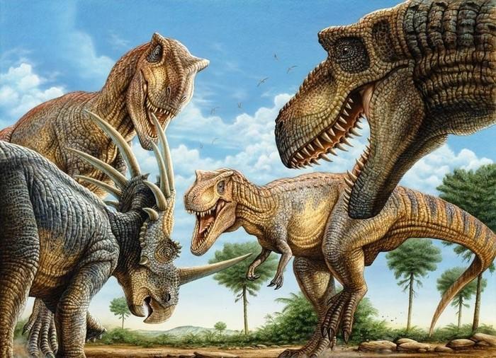 Тираннозавры - стайные охотники? Меловой период, Тираннозавр, Охота, Динозавры, Палеонтология, Длиннопост
