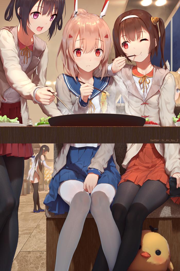 Anime Art #220 Anime Art, Azur Lane, Ayanami, Ninghai, Ping Hai, Аниме, Девушки, Мило