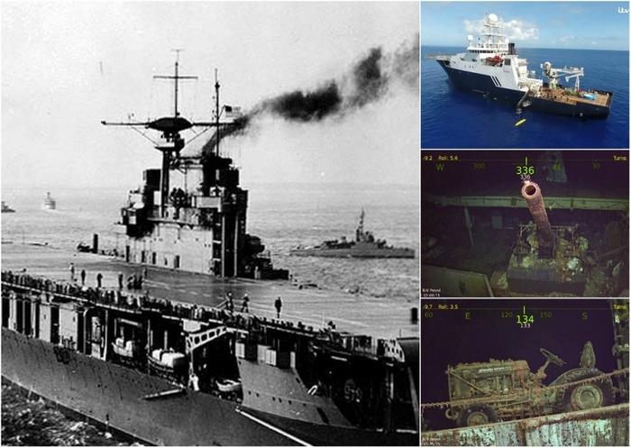 Исследователи нашли затонувший в 1942 году авианосец Hornet Корабль, История, Длиннопост, Авианосец