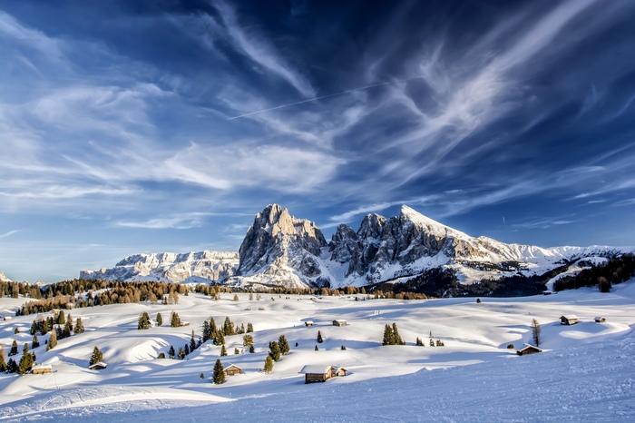 Зимний день в горах Горы, Зима, Природа, Туризм, Фотография