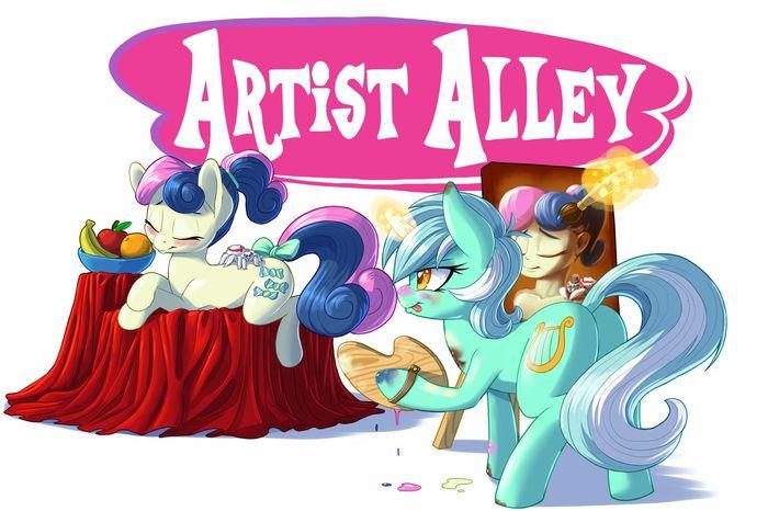 Я художник, я так вижу. My Little Pony, Ponyart, Lyra Heartstrings, Bon Bon, Original Character, Паук, Хуманизация, Pusspuss