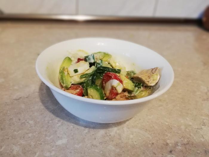 Полезный салат с авокадо. Сала, Еда, Рецепт, Видео