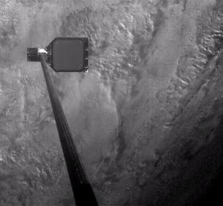 Спутник-уборщик поймал космический мусор с помощью гарпуна Спутник, Космос, Космический мусор, Гифка