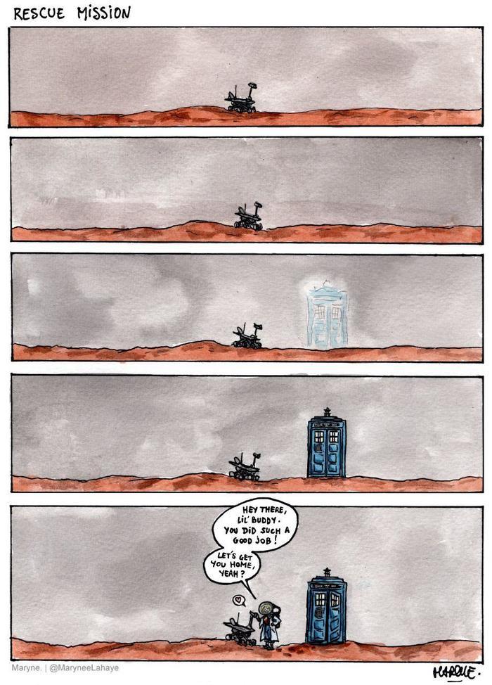 Еще одна трогательная картинка про марсоход Opportunity Марсоход, Opportunity, Марсоход Opportunity, ТАРДИС, Доктор Кто
