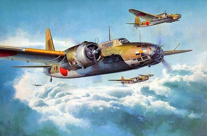 Ki-21 .Бомбер по кличке Салли от Мицубиси. Вторая мировая война, Япония, Бомбардировщик, Ki-21, Длиннопост