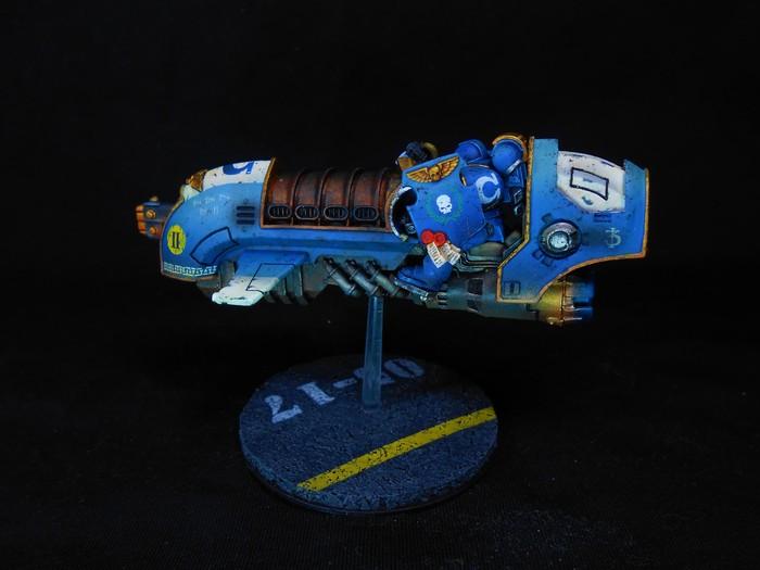 Летающий огурец Warhammer 40k, Wh miniatures, Wh painting, Ultramarines, Миниатюра, Покраска миниатюр, Длиннопост