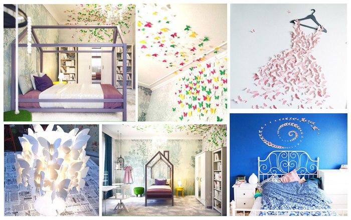 Оформление стен бабочками. Бабочки из бумаги, Дизайн, Индивидуальный дизайн, Бабочка, Длиннопост