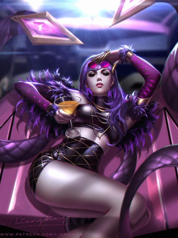 KDA Widowmaker Art Арт, Liang Xing, Overwatch, Widowmaker, KDA, Девушки
