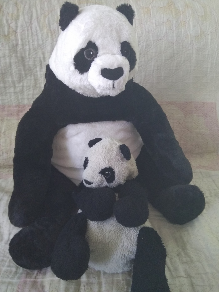 Дунда. Панда, Сравнение, Мягкая игрушка, ИКЕА
