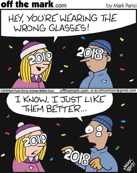 Неожиданно Комиксы, Очки, Новый Год, Неожиданно