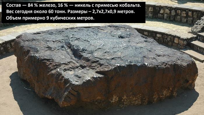 Самый крупный метеорит найденный на земле Африка, Намибия, Достопримечательности, Метеорит, Метеорит гоба, Видео