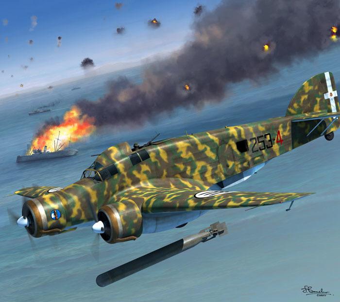Savoia-Marchetti SM.79 Sparviero.Ястреб -горбун итальянских ВВС. Вторая мировая война, Италия, Бомбардировщик, Длиннопост