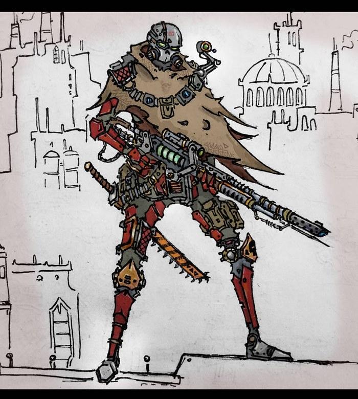 Арты по Warhammer40k Wh Art, Warhammer 40k, Рисунок, Скетч, Космодесант, Длиннопост