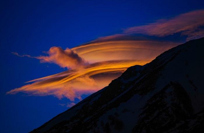 Облако на закате