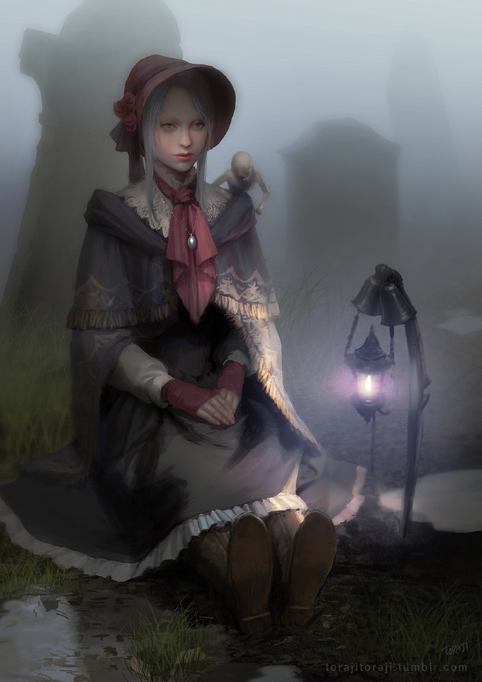 ByToraji . Toraji, Арт, Рисунок, Bloodborne, Игры, Кукла, Doll